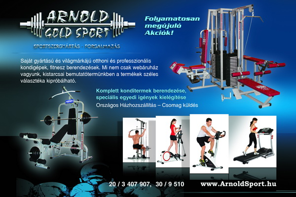 Elektromos Futópadok - Arnold Gold Sport WebÁruház  Kondigépek ... 8a203ca51a